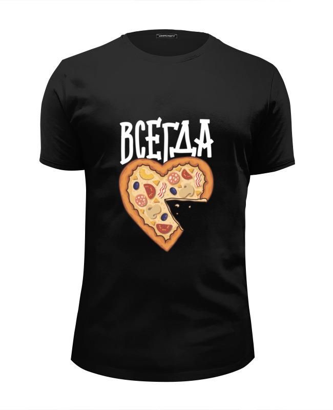 Футболка Wearcraft Premium Slim Fit Printio Мышь и пицца. парные футболки. рубашки футболки для детей