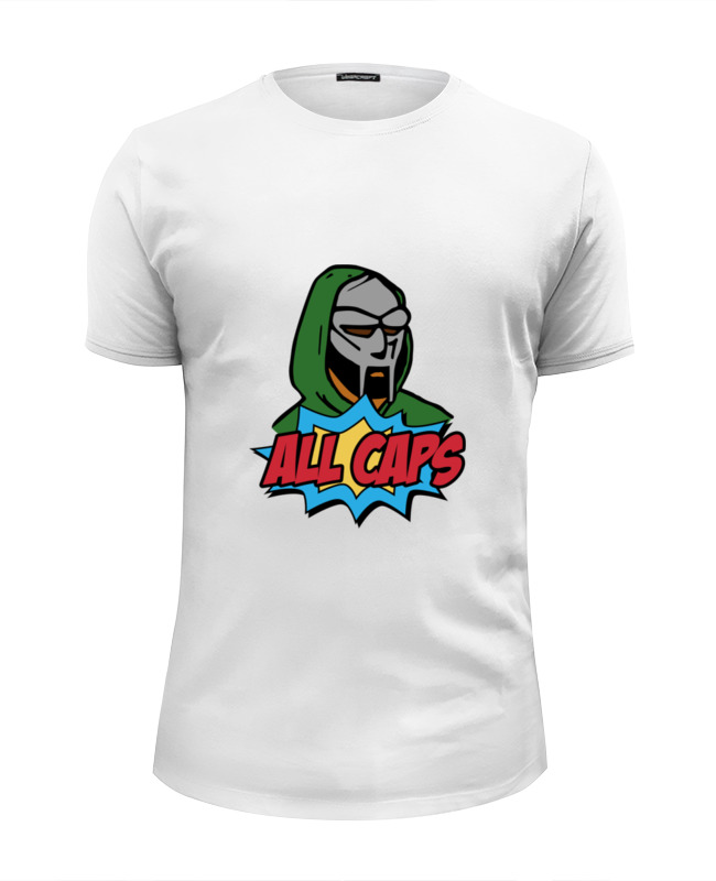 Футболка Wearcraft Premium Slim Fit Printio Mf doom худи print bar mf doom