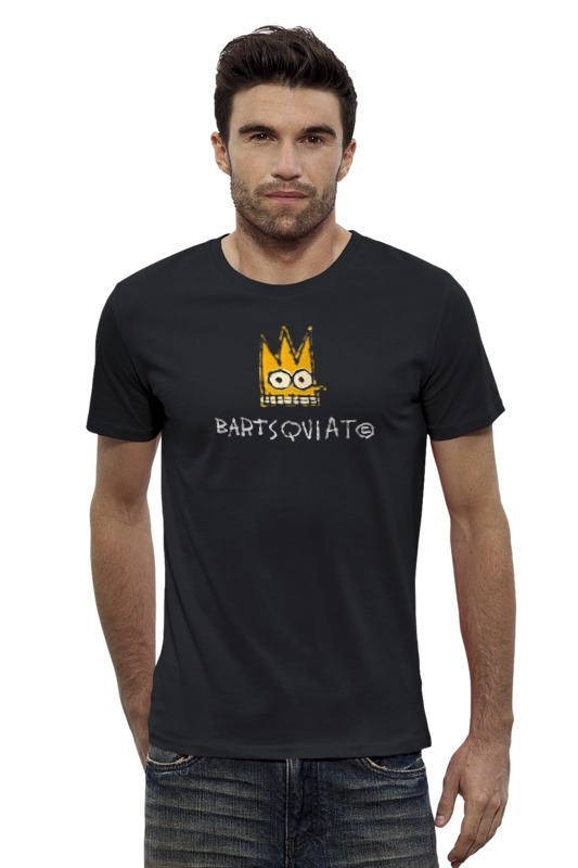 Футболка Wearcraft Premium Slim Fit Printio Bartsquiat футболка wearcraft premium slim fit printio avengers