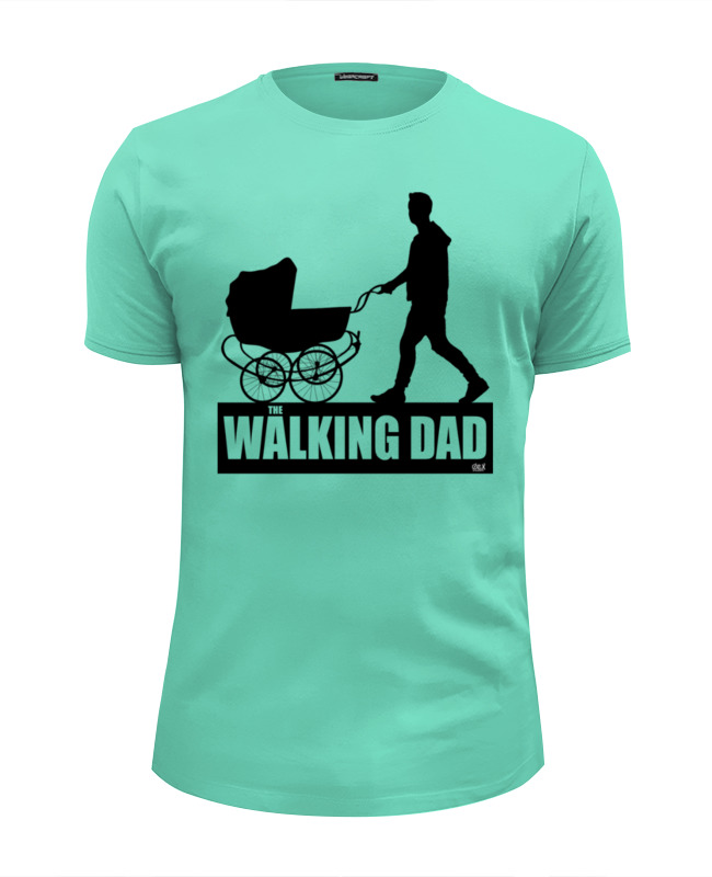 Футболка Wearcraft Premium Slim Fit Printio The walking dad