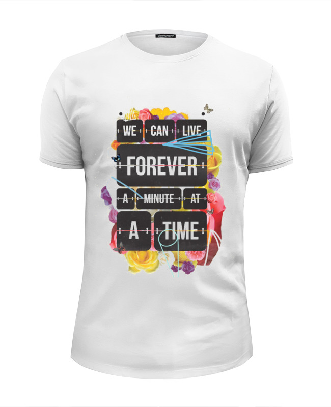 Футболка Wearcraft Premium Slim Fit Printio Live forever цена