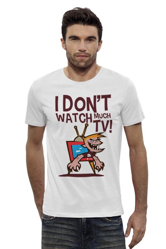 Футболка Wearcraft Premium Slim Fit Printio Я не смотрю телек футболка wearcraft premium slim fit printio я покажу тебе мир