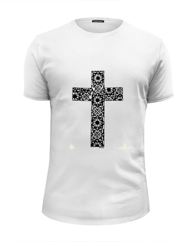 Футболка Wearcraft Premium Slim Fit Printio Крест модное сексуальное backless шнурок вышитый крест ремень slim трубчатое платье венчания