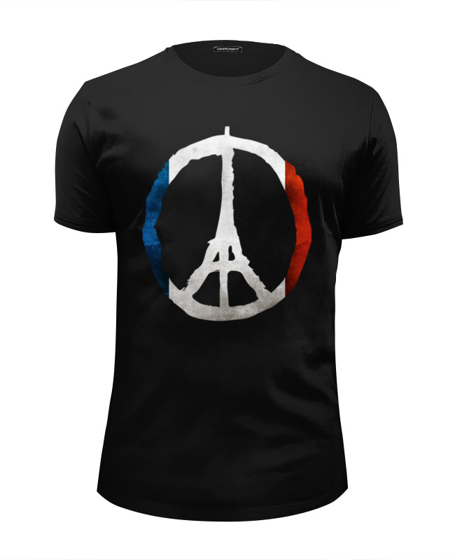 Футболка Wearcraft Premium Slim Fit Printio Мир парижу (peace for paris) human rights as means for peace