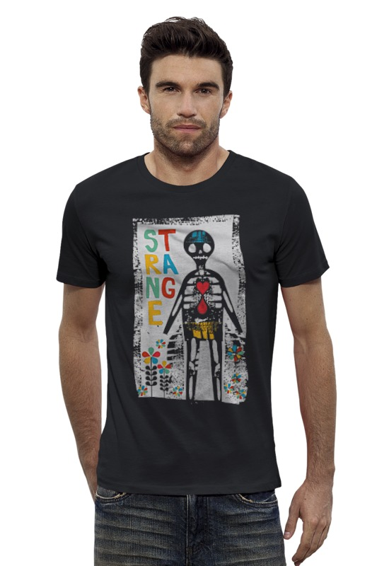 Футболка Wearcraft Premium Slim Fit Printio Dia de los strange футболка wearcraft premium printio los angeles kings nhl usa