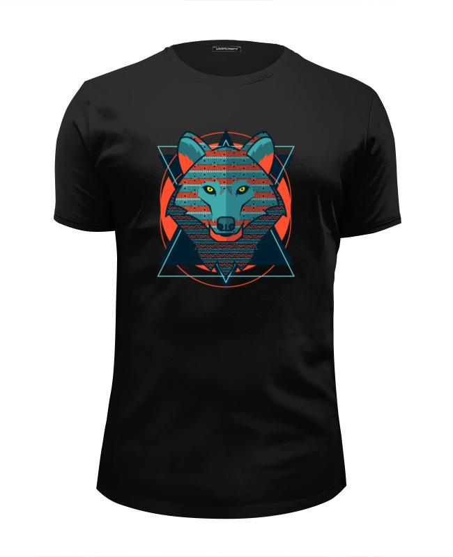 Футболка Wearcraft Premium Slim Fit Printio Wolf (волк) футболка wearcraft premium printio lone wolf