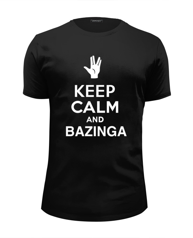 Футболка Wearcraft Premium Slim Fit Printio Bazinga (the big bang theory) футболка wearcraft premium slim fit printio bazinga