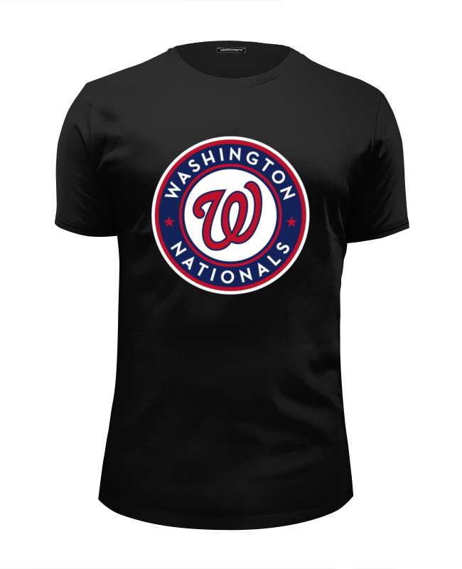 Футболка Wearcraft Premium Slim Fit Printio Washington nationals майка борцовка print bar real madrid