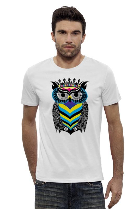 Футболка Wearcraft Premium Slim Fit Printio Сова арт футболка wearcraft premium slim fit printio ночная сова