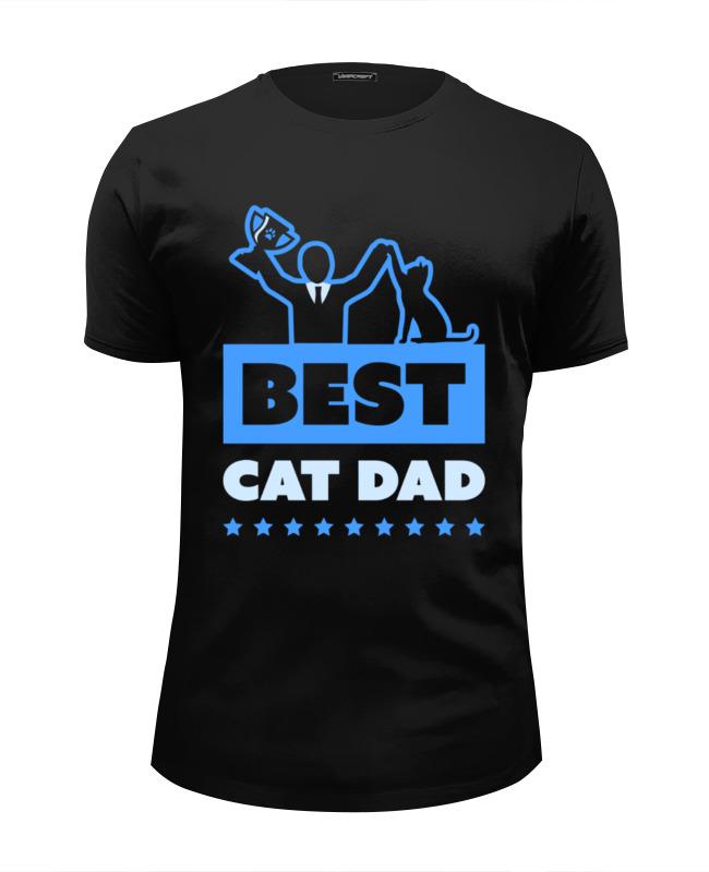 Футболка Wearcraft Premium Slim Fit Printio Лучший папа кота