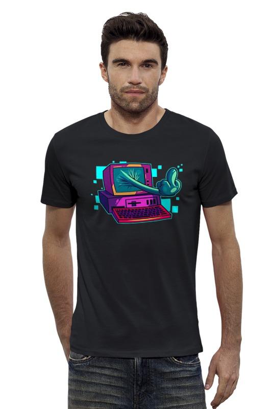 Футболка Wearcraft Premium Slim Fit Printio Компьютер футболка wearcraft premium slim fit printio vampire