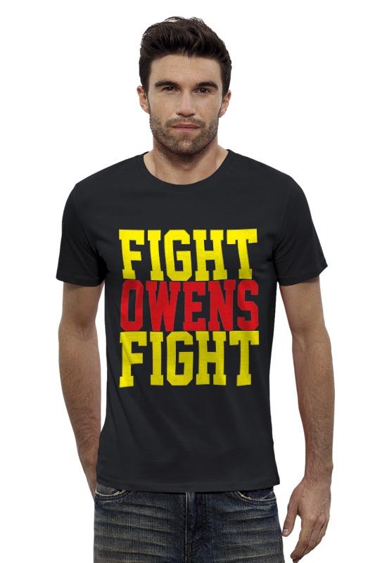 Футболка Wearcraft Premium Slim Fit Printio Fight owens fight (wwe) wwe рей мистерио маска купить в москве