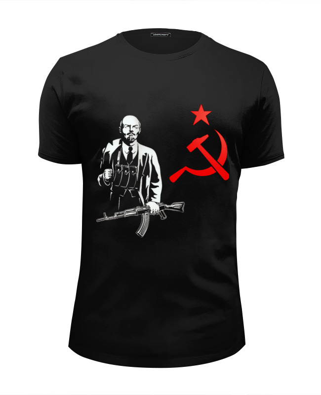 Футболка Wearcraft Premium Slim Fit Printio Ленин футболка wearcraft premium slim fit printio ленин жив