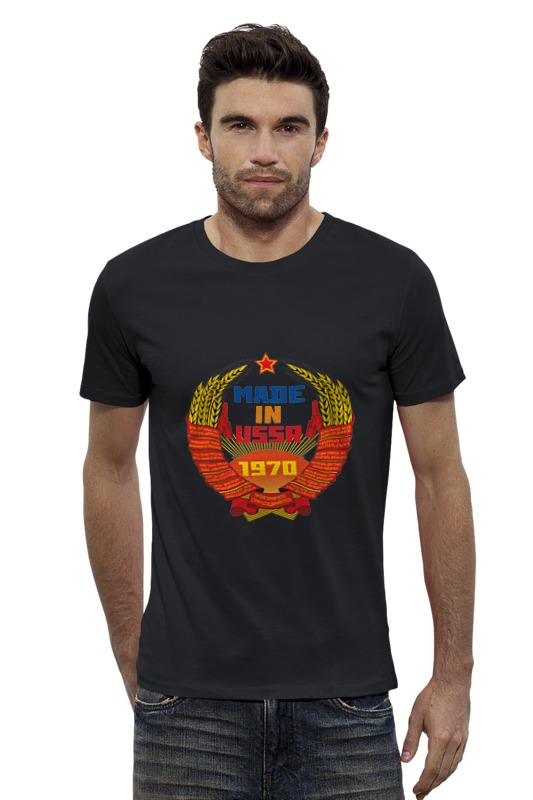 Футболка Wearcraft Premium Slim Fit Printio Made in ussr 1970 georgy zobach gold history of weightlifting in leningrad ussr 1970 86records