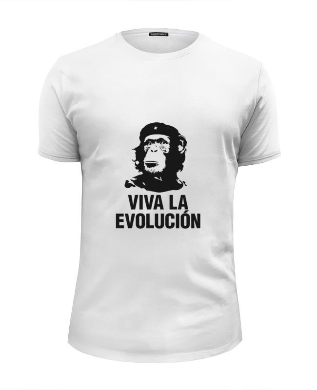 Футболка Wearcraft Premium Slim Fit Printio Viva la evolucion viva baby viva baby спортивный костюм бежевый