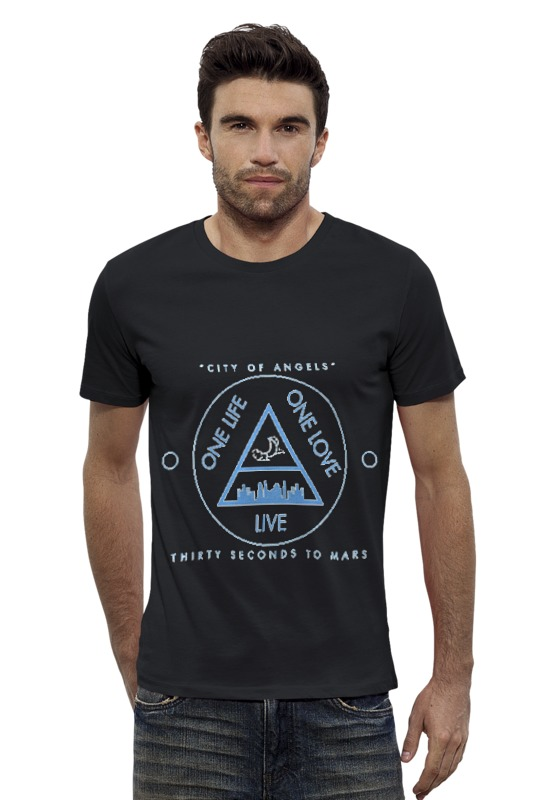 Футболка Wearcraft Premium Slim Fit Printio City of angels - 30 seconds to mars футболка стрэйч printio city of angels 30 seconds to mars
