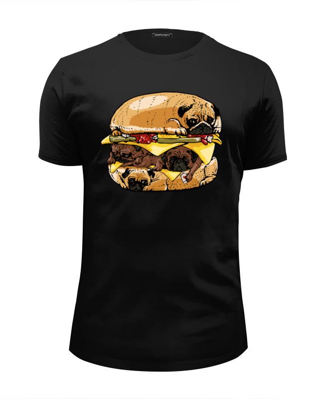 Футболка Wearcraft Premium Slim Fit Printio Мопс бургер футболка рингер printio мопс бургер