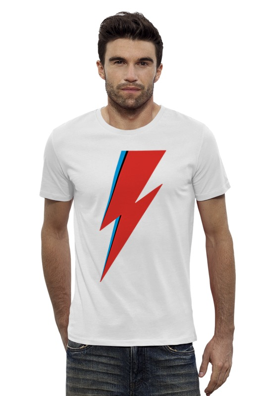 Футболка Wearcraft Premium Slim Fit Printio David bowie lightning bolt украшения для обуви donkey декоративные крылья для кроссовок lightning bolt for shoes
