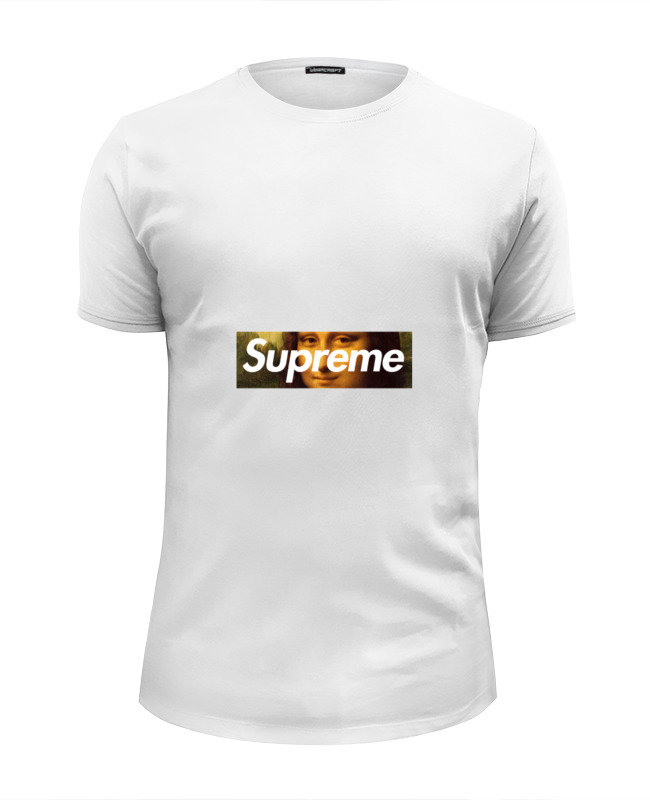 Футболка Wearcraft Premium Slim Fit Printio Supreme & mona liza футболка мужская supreme ny yankees supreme box tee