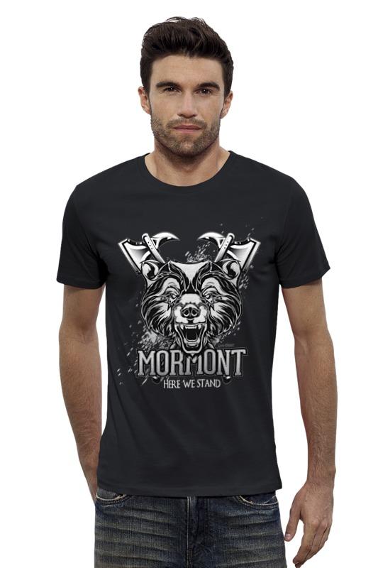 Футболка Wearcraft Premium Slim Fit Printio Медведь мормонтов (игра престолов) футболка wearcraft premium printio игра престолов