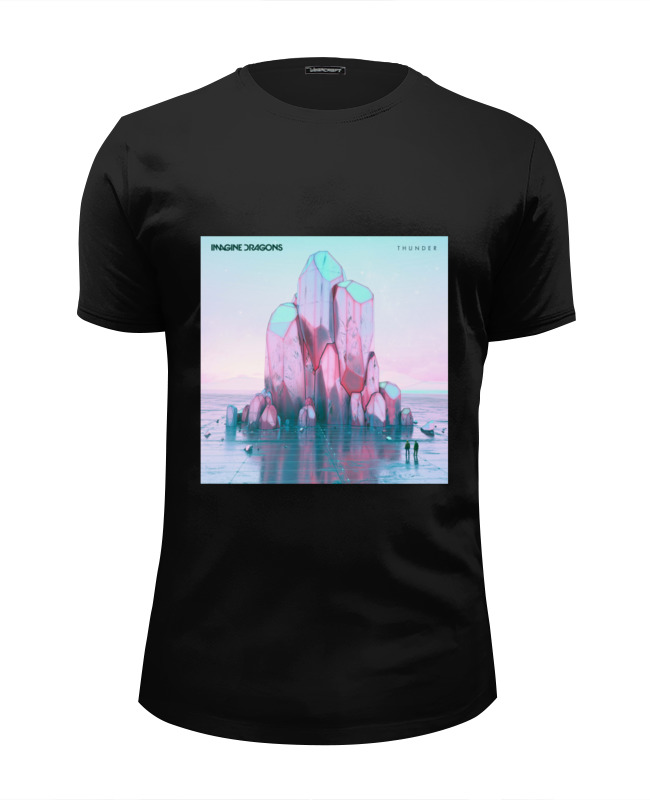 Футболка Wearcraft Premium Slim Fit Printio Imagine dragons thunder