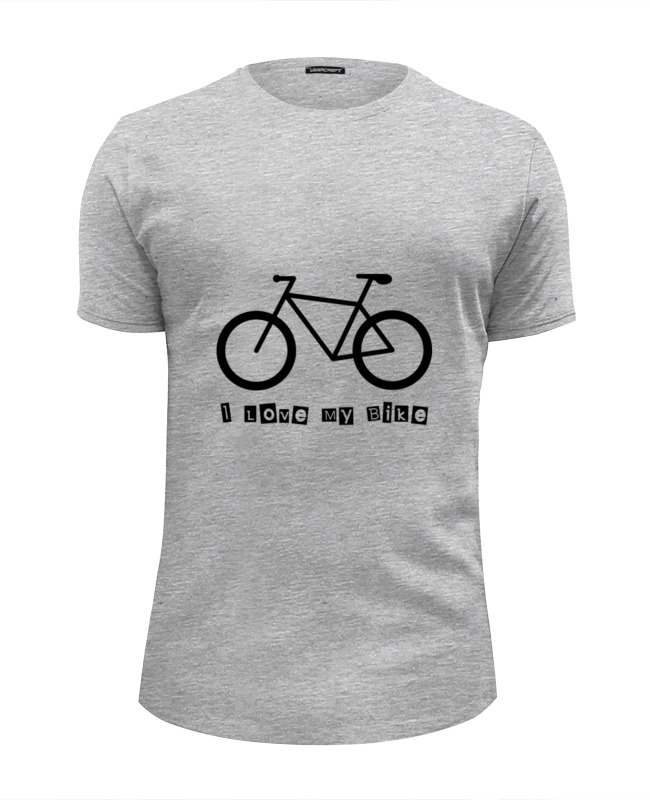 Футболка Wearcraft Premium Slim Fit Printio I love my bike футболка print bar i love my bike