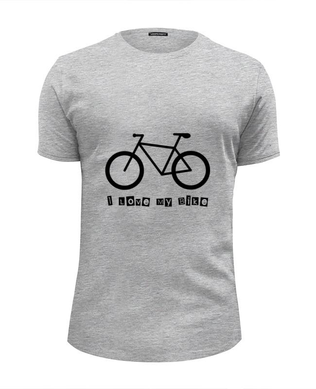 Футболка Wearcraft Premium Slim Fit Printio I love my bike велосипед geuther велосипед my runner серо зеленый