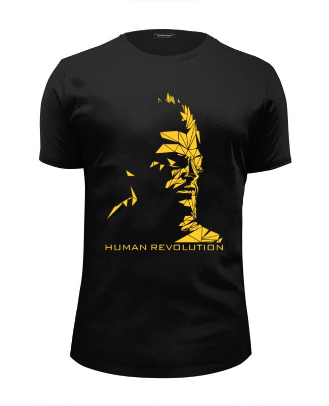 Футболка Wearcraft Premium Slim Fit Printio Human revolution (deus ex) the conservative human rights revolution