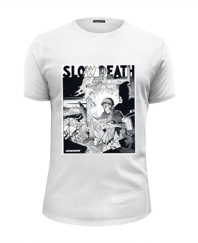 Футболка Wearcraft Premium Slim Fit Printio Slow death t-shirt лонгслив printio slow death t shirt