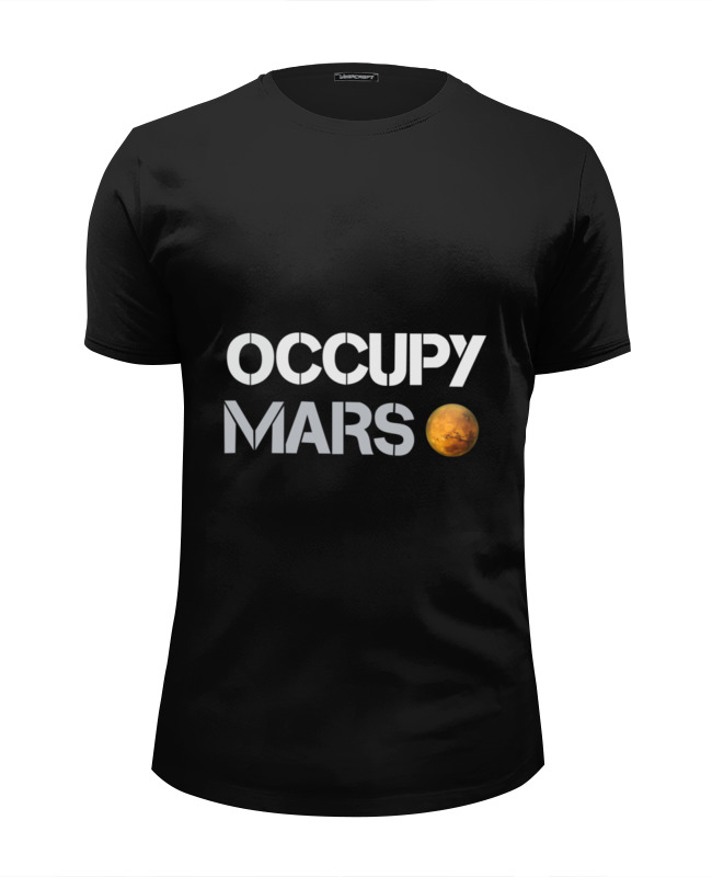 Футболка Wearcraft Premium Slim Fit Printio Occupy mars elon musk