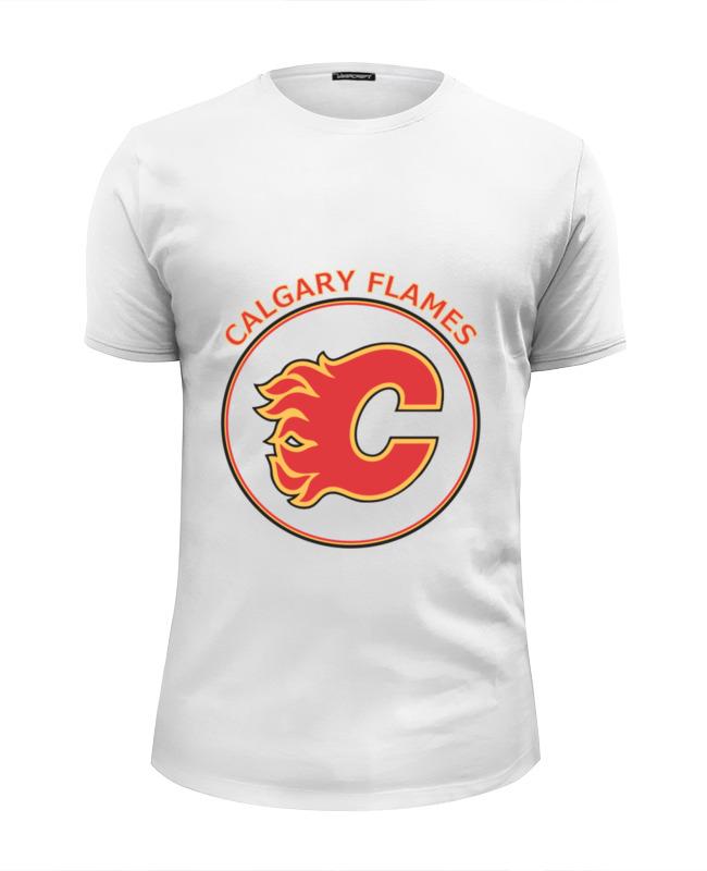Футболка Wearcraft Premium Slim Fit Printio Calgary flames, fannin the flames