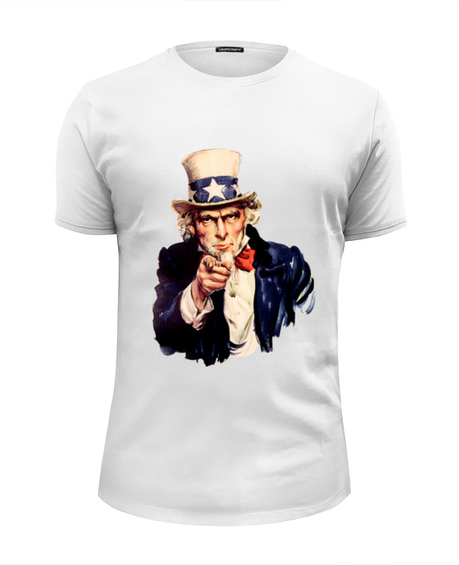 Футболка Wearcraft Premium Slim Fit Printio Uncle sam лонгслив printio uncle sam