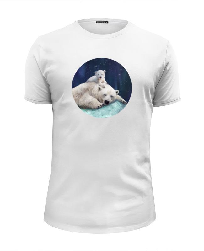 Футболка Wearcraft Premium Slim Fit Printio Белые медведи футболка print bar белые мотыльки