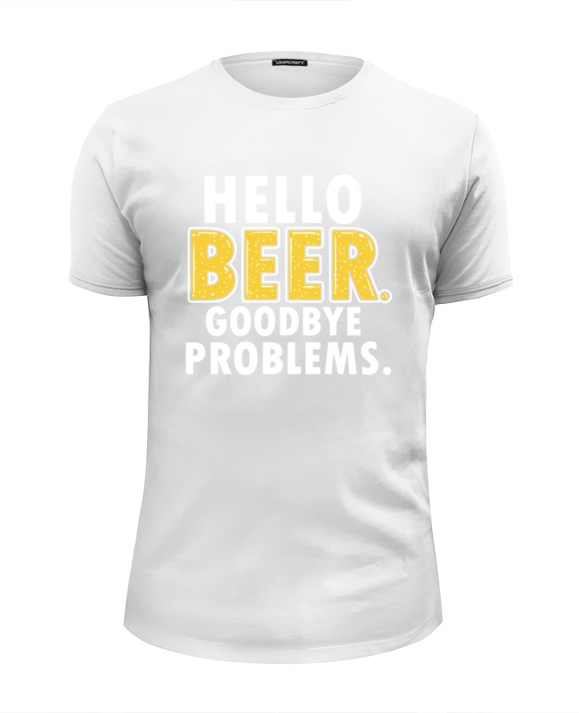 Футболка Wearcraft Premium Slim Fit Printio Hello beer футболка wearcraft premium printio time to drink beer