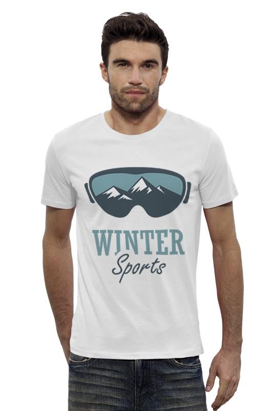 Футболка Wearcraft Premium Slim Fit Printio Зимний спорт (winter sport)
