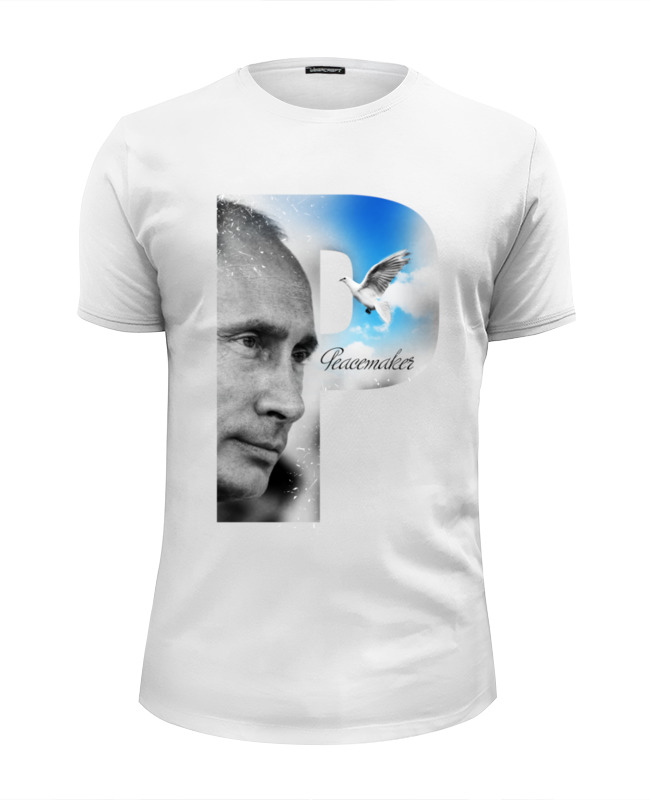 Футболка Wearcraft Premium Slim Fit Printio Putin peacemaker by design ministry футболка wearcraft premium slim fit printio democracy by design ministry