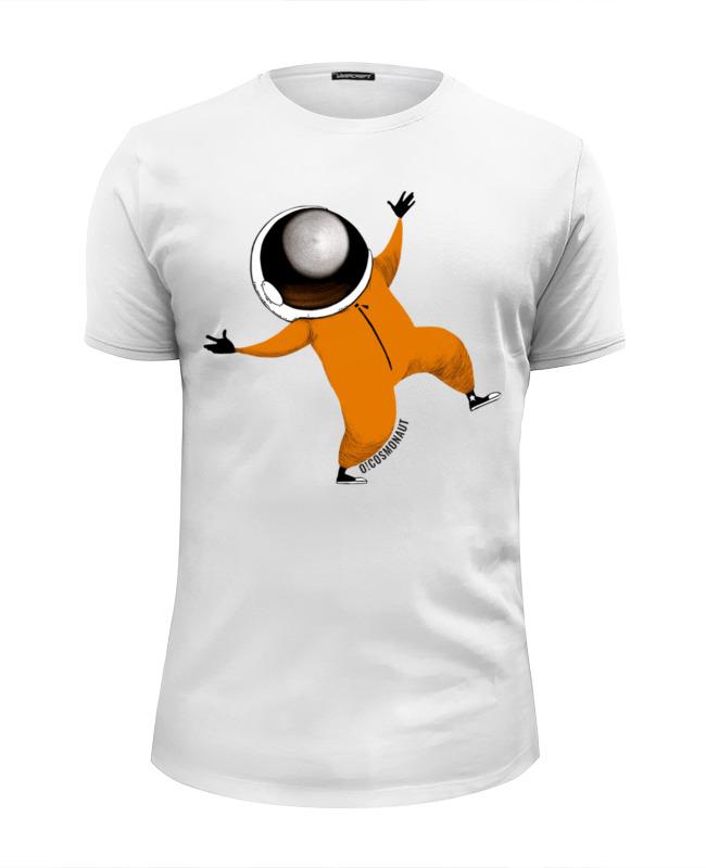 Футболка Wearcraft Premium Slim Fit Printio Космонавт весельчак футболка wearcraft premium slim fit printio космонавт и звёздочка хотят отправиться в космос