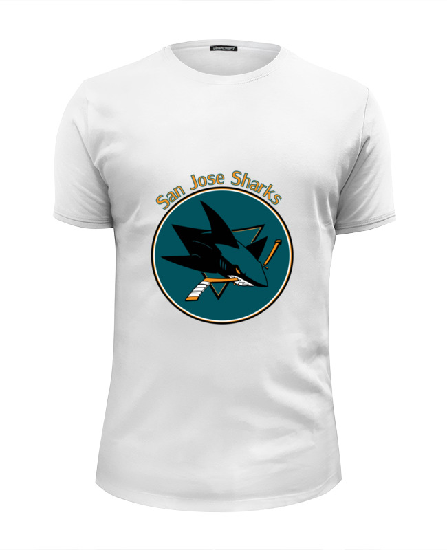 Футболка Wearcraft Premium Slim Fit Printio San jose sharks haunts of san jose