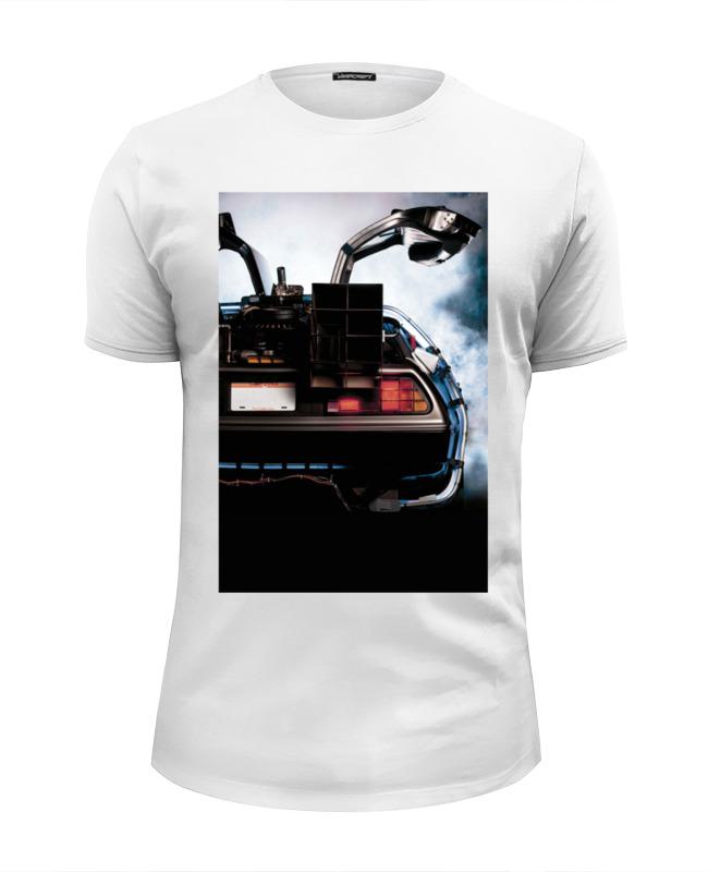 Фото - Футболка Wearcraft Premium Slim Fit Printio Назад в будущее / back to the future contrast lace keyhole back blouse