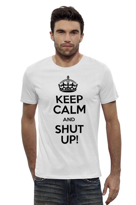 Футболка Wearcraft Premium Slim Fit Printio Keep calm art футболка wearcraft premium printio keep calm