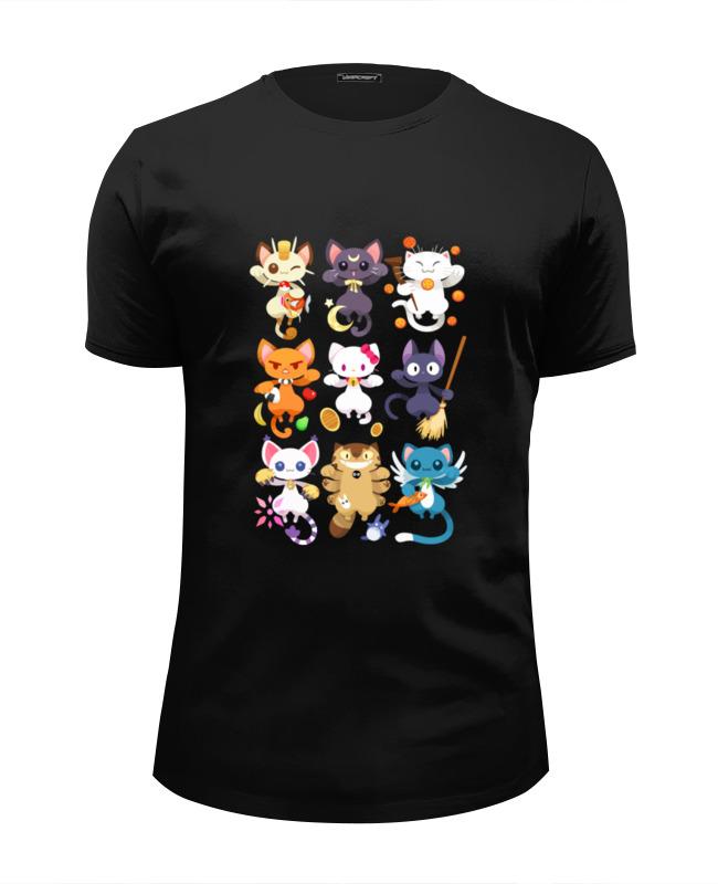 футболка wearcraft premium slim fit printio коты и кошки cats Футболка Wearcraft Premium Slim Fit Printio Коты и кошки (cats)