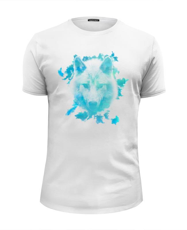 Футболка Wearcraft Premium Slim Fit Printio Белый волк