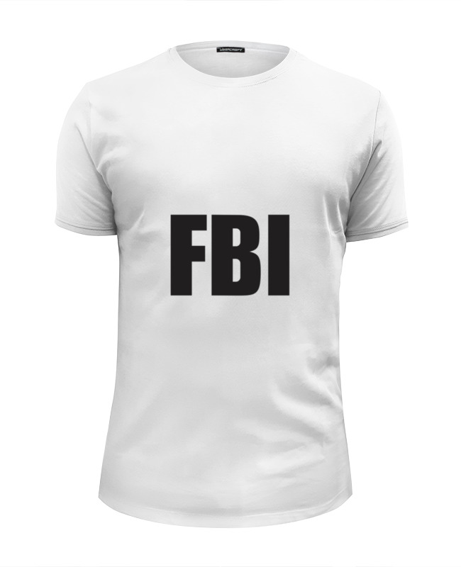 Футболка Wearcraft Premium Slim Fit Printio Fbi agent сумка printio fbi agent