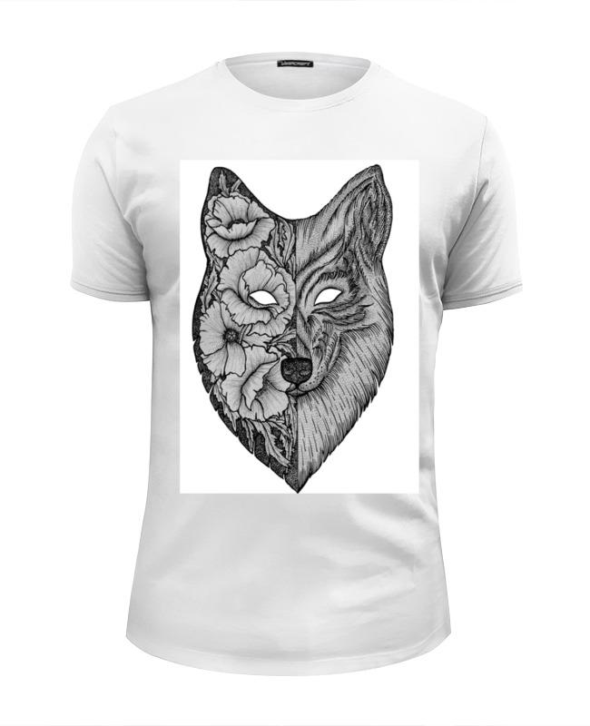 Футболка Wearcraft Premium Slim Fit Printio Волк (wolf) футболка wearcraft premium printio lone wolf
