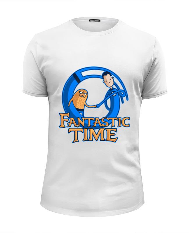 Футболка Wearcraft Premium Slim Fit Printio Время приключений (фантастическая четвёрка) лонгслив printio фантастическая четвёрка fantastic four
