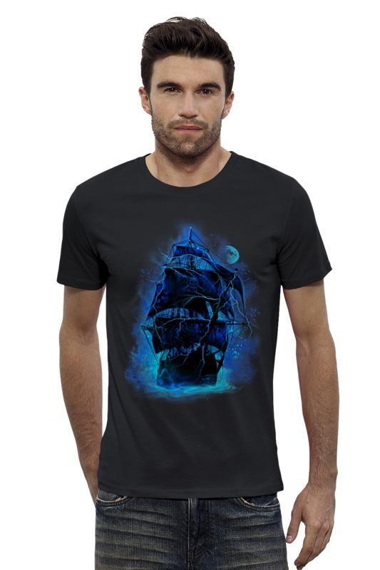 Футболка Wearcraft Premium Slim Fit Printio Пиратский корабль elc корабль пластик пиратский