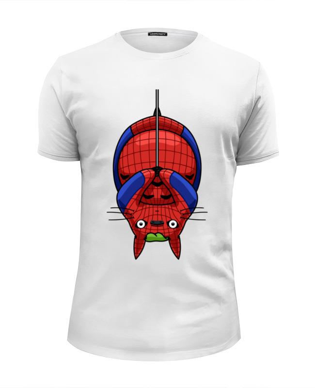 Футболка Wearcraft Premium Slim Fit Printio Кот (человек паук) футболка wearcraft premium slim fit printio кот суши
