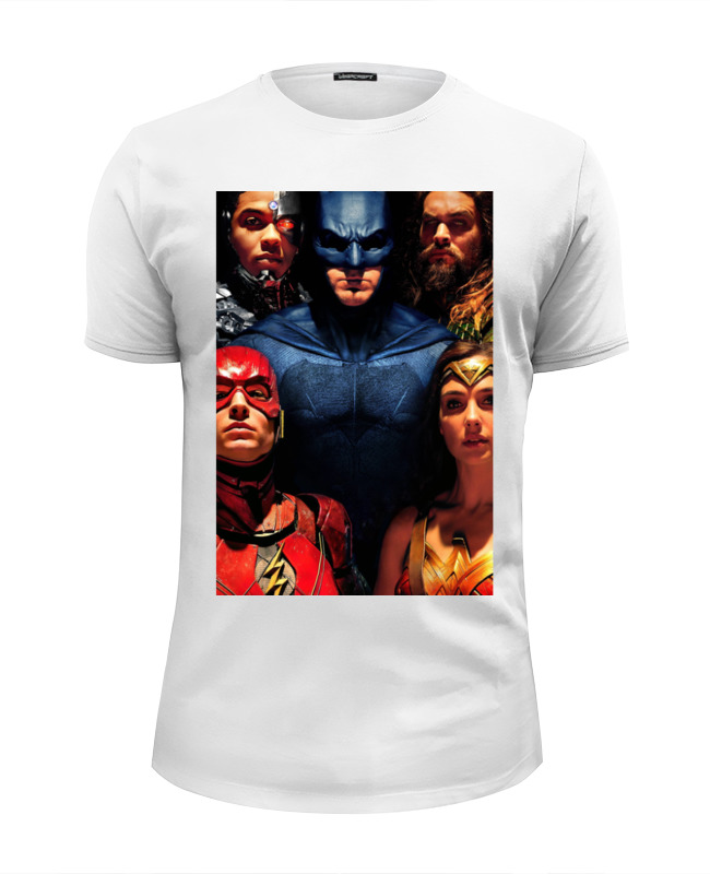 Футболка Wearcraft Premium Slim Fit Printio Лига справедливости / justice league restorative justice for juveniles