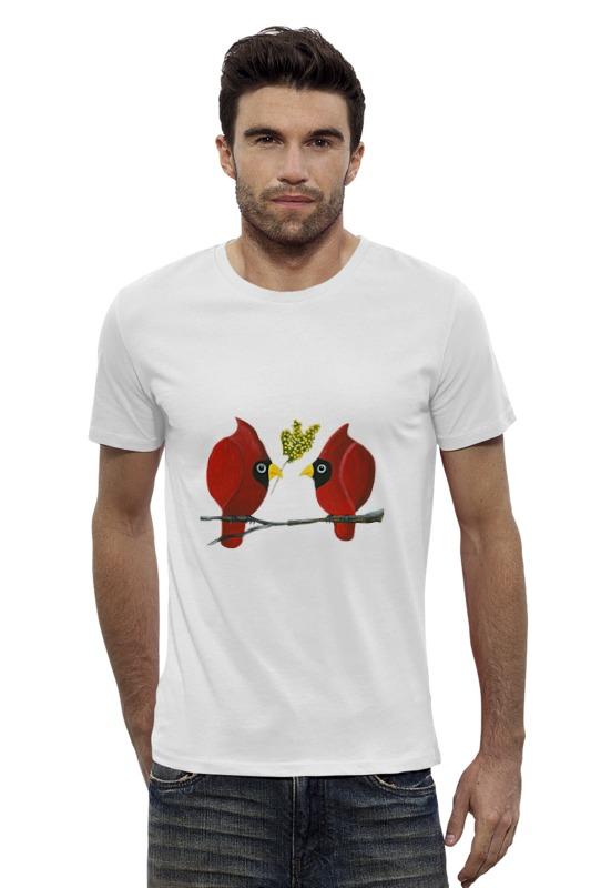 Футболка Wearcraft Premium Slim Fit Printio Свидание на ветке футболка wearcraft premium slim fit printio верхом на облаке