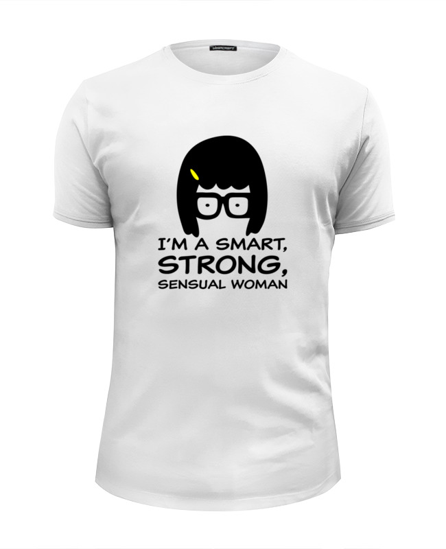 все цены на Футболка Wearcraft Premium Slim Fit Printio Умная, сильная женщина (тина белчер) онлайн